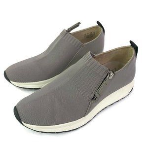 Naturalizer Comfort Shoes Gray Knit Flat Sneakers